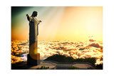 Famous Statue Of The Christ The Reedemer  In Rio De Janeiro  Brazil