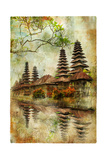 Mysterious Balinese Temples  Artwork In Painting Style