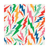 Colorful  Retro Bolt Seamless Pattern
