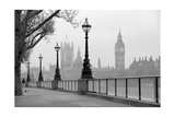 Big Ben And Houses Of Parliament  Black And White Photo