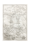 Southern Sahara And Central Africa Old Map