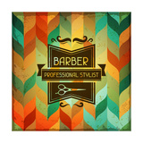 Hairdressing Background In Retro Style