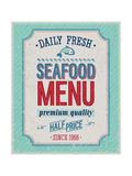 Vintage Seafood Poster
