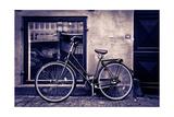 Classic Vintage Retro City Bicycle In Copenhagen  Denmark