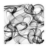 Abstract Black And White Background Reproduction d'art par Alexkar08