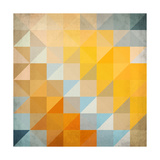 Abstract Triangles Geometry Reproduction d'art par Art_of_sun
