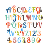 Cute Retro Style Boy Themed Alphabet Set