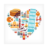 Italy Love - Heart