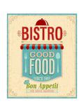 Vintage Bistro Poster