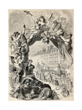 Old Allegoric Illustration Of Mardi Gras (Fat Tuesday) During Carnival Celebrations In Paris