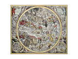 Old Representation Of Christian Celestial Hemisphere