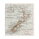 New Zealand Old Map