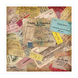 Vintage Travel Background Made Of Lots Of Old Tickets