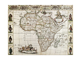 Africa Old Map Created By Frederick De Wit  Published In Amsterdam  1660