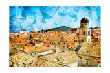 Ancient Dubrovnik -Artwork In Painting Style