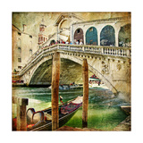 Colors Of Venice - Artwork In Painting Style From My Italian Series