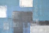 Grey And Blue Abstract Art Painting