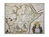 Ethiopia Old Map Created By Joan Blaeu  Published In Amsterdam 1650