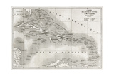 Antilles Old Map Created By Vuillemin And Erhard  Published On Le Tour Du Monde  Paris  1860