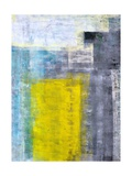 Grey  Teal And Yellow Abstract Art Painting