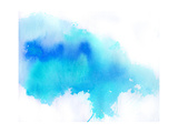 Blue Spot  Watercolor Abstract Hand Painted Background