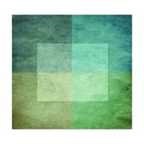 Grungy Watercolor-Like Graphic Abstract Background Green