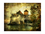 Mysterious Castle On The Lake - Artwork In Painting Style