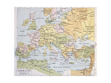 Europe In 1270 Old Map