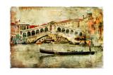 Amazing Venice Rialto Bridge - Artwork In Painting Style