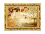Autumn - Beautiful Painting In Gilded Frame