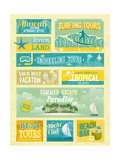 Vintage Summer Holidays And Beach Advertisements