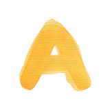 Handwritten Watercolor Alphabet Letter  Isolated