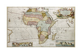 Africa Old Map Created By Frederick Herman Moll  Published In London  1710
