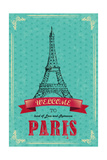 Eiffel Tower For Retro Travel Poster