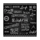 Hand Drawn Chalkboard Style Words  Quotes And Decoration
