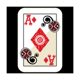 Hand Drawn Deck Of Cards  Doodle Ace Of Diamonds
