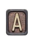 Metal Button Alphabet Letter A