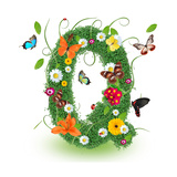 "Beautiful Spring Letter ""Q"""