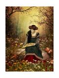 A Woman Reading A Book Reproduction d'art par Atelier Sommerland