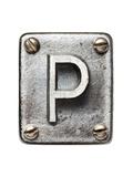 Old Metal Alphabet Letter P