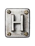 Old Metal Alphabet Letter H