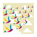 Transparent Birds Pattern