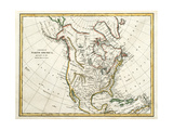 Map Of North America Dated 1791