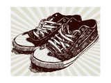 Vintage Sneakers Hand Drawn