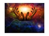 High Resolution Hands And Light