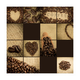Artistic Collage Of Coffee Beans