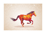 Colorful Abstract Horse Shape