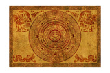 Maya Calendar On Ancient Parchment