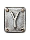 Old Metal Alphabet Letter Y