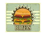 Retro Cover For Fast Food Menu